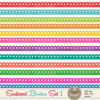 Colorful Scalloped Borders set1