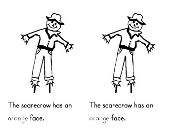 Colorful Scarecrow Emergent Reader