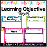 Colorful School Learning Objective Posters