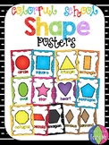 Colorful School Shape Posters