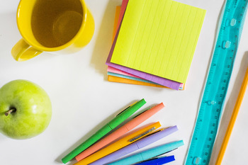 Colorful School Supply Stock Photos and Digital Paper #2