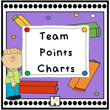 Colorful School Themed Team Points Charts