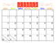 Colorful School Year Calendar 2016-2017