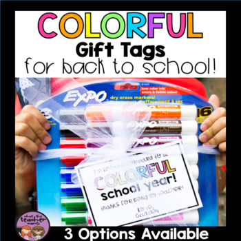 Colorful School Year Gift Tag for Back to School