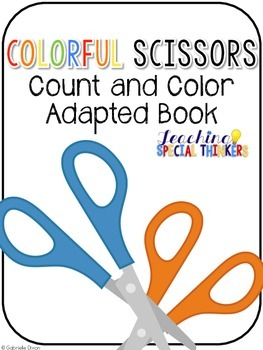 Colorful Scissors Count and Color Book