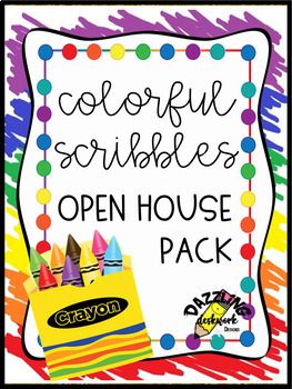 Colorful Scribbles Open House Pack