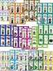 Colorful AND Black & White Seasonal-Monthly-Bookmarks for