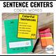 Sentence Building Cards Colors