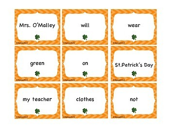 Colorful Sentences for St. Patrick's Day