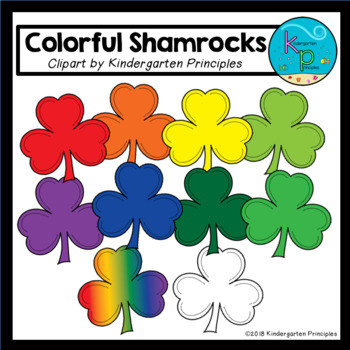 Colorful Shamrocks Clipart Set