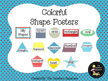 Shape Posters: Colorful