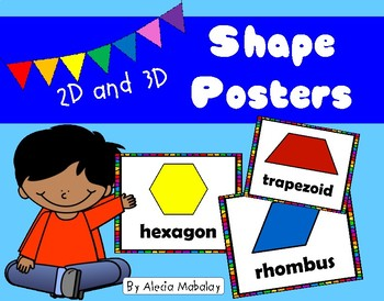 Colorful Shape Posters