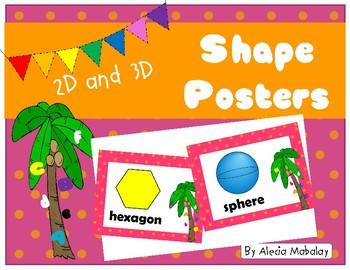 Colorful Shape Posters:  Chicka Style