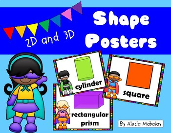 Colorful Shape Posters:  Superhero Style