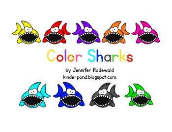 Colorful Sharks Class book