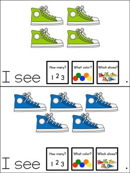 Colorful Shoes Count and Color Adapted Book