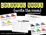 Colorful Shoes Write the Room