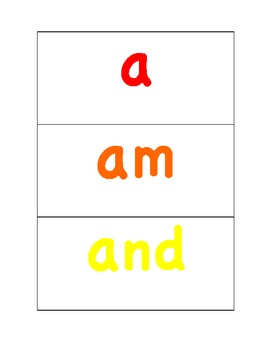 Colorful Sight Word Cards & Suggested Activities