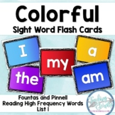 Colorful Sight Word Flashcards (Fountas & Pinnell list 1)