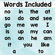 Spring Sight Word Flashcards (Fountas & Pinnell list 1)