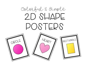 Colorful & Simple 2D Shapes Posters