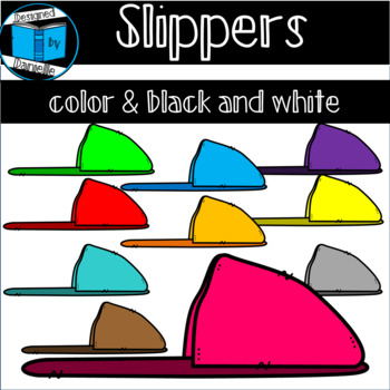 Colorful Slippers Clipart