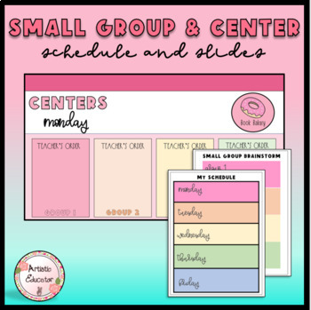Colorful Small Group Centers Schedule Posters - Edtiable Lesson Planning