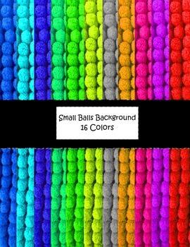 Colorful Small Pom Pom Balls Background Paper