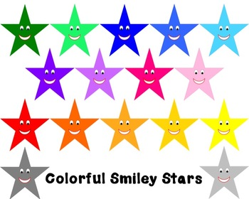 Colorful Smiling Stars