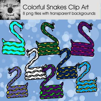 Colorful Snakes Clip Art