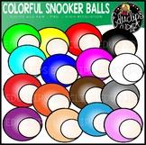 Colorful Snooker Balls Clip Art Set {Educlips clipart}