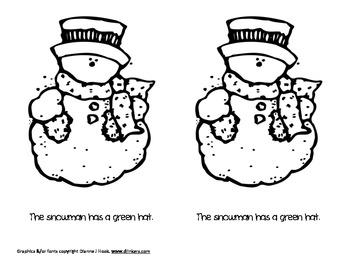 Colorful Snowmen Emergent Reader