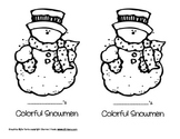 Colorful Snowmen Emergent Reader