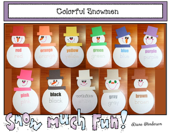 Colorful Snowmen: Games & Craftivity