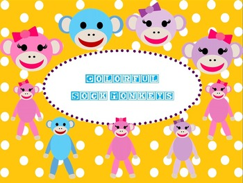 Colorful Sock Monkey Clip Art Images