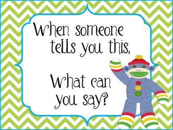 """Colorful Sock Monkey """"Talk It Out"""" Conflict Resolution Wall"""
