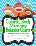 Colorful Sock Monkey Theme Behavior Tracking System ***editable***