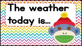 Colorful Sock Monkey Theme Calendar Set *includes editable pieces*