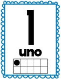 Colorful Spanish Number Cards