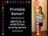 Colorful, Spanish banner! - Bienvenidos - 2 printing options