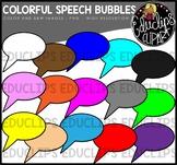 Colorful Speech Bubbles Clip Art Bundle {Educlips Clipart}