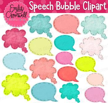 Colorful Speech Bubbles Clipart
