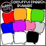 Colorful Speech Bubbles (scribble clips 123)