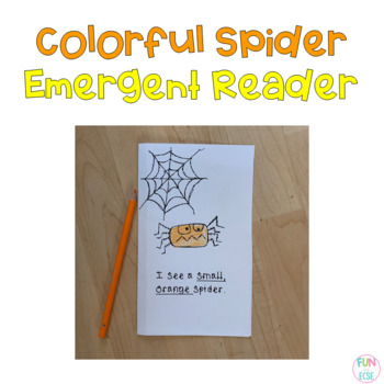 Colorful Spider Book Freebie