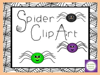 Colorful Spider Clip Art