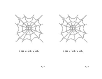 Colorful Spiders Emergent Reader for Halloween