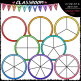 Colorful Spinners Clip Art (64 Colored) - Games Clip Art &