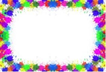 Colorful Splatter Labels (Editable)
