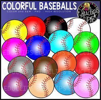 Colorful Sports Balls Clip Art Big Bundle {Educlips Clipart}