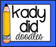 Colorful Squiggly Line Headers {Kady Did Doodles}